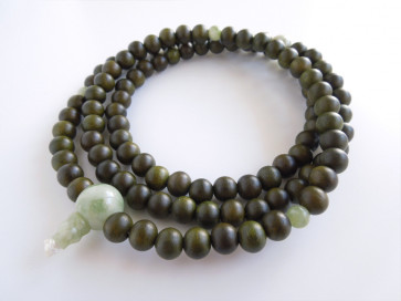 Lignum vitae 108 bead Nenju with Serpentine(36cm) (delivery by DHL)