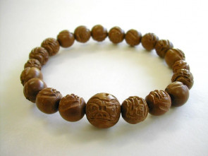 Jujube (Chinese date palm) Daruma bracelet (U1519) (delivery by DHL)