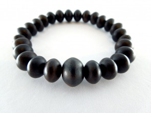Striped ebony 7.5mm oval beads bracelet