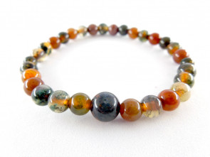 Moss agate 6mm main beads bracelet