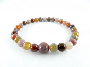 Rose agate 6mm main beads bracelet