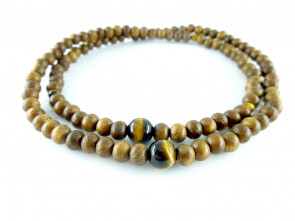 Enju & Tiger's eye 5mm 108 bracelet