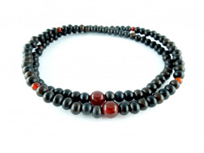 Striped ebony & Agate 5mm 108 bracelet