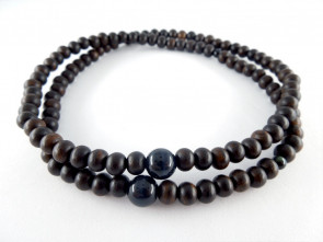 Striped ebony & Hawk's eye 5mm 108 bracelet