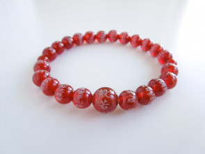 Agate bracelet with the Heart Sutra